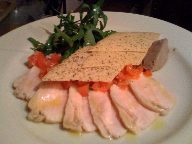 大山鶏ムネ肉のサラダとレバーペースト