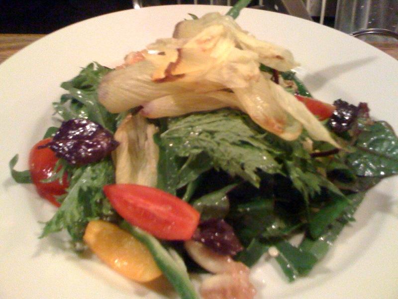 花オクラと有機野菜のサラダ