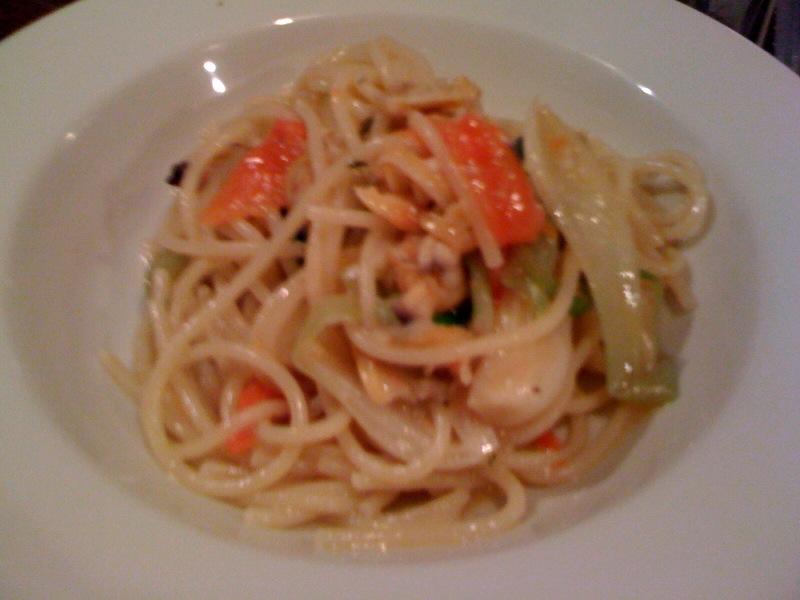 浅利と葉玉ねぎのスパゲティ